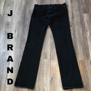 J Brand mid-rise slim straight leg jeans